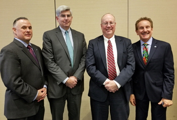 2017 CFDA President Bob Muccino, Chief Medical Examiner Dr. James Gill, Manchester Probate Judge Michael Darby, and CFDA Executive Director John Cascio